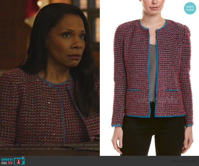Tweed Jacket by St. John worn by Liz Reddick-Lawrence (Audra McDonald) on The Good Fight