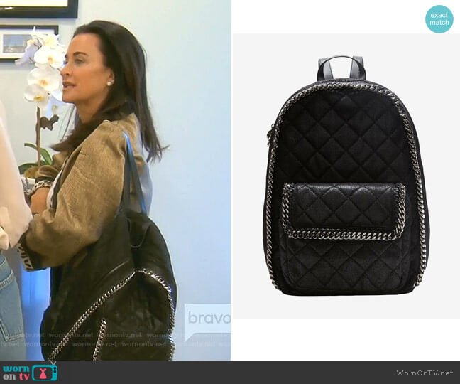Quilted Backpack by Stella McCartney worn by Kyle Richards  on The Real Housewives of Beverly Hills