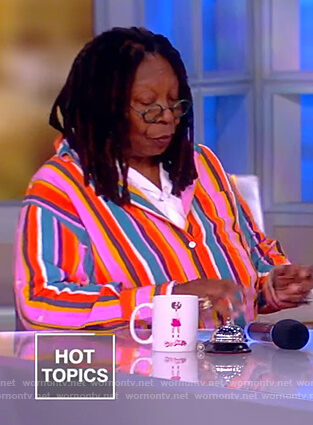 Whoopi's striped button sleeve shirt by The View