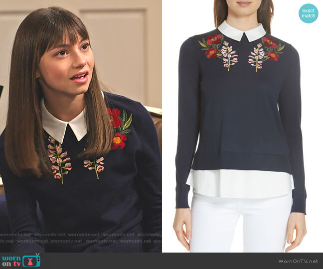 Toriey Sweater by Ted Baker worn by Molly (Lauren Lindsey Donzis) on No Good Nick