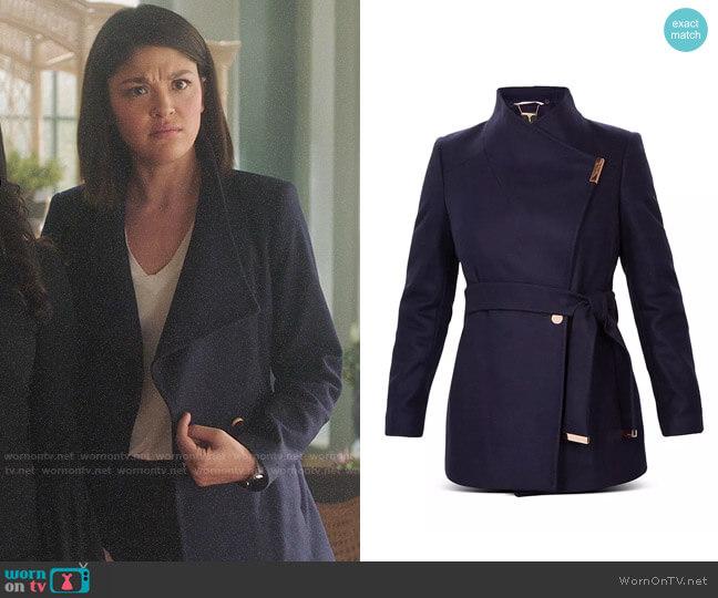 Ted Baker Rytaa Coat worn by Niko Hamada (Ellen Tamaki) on Charmed