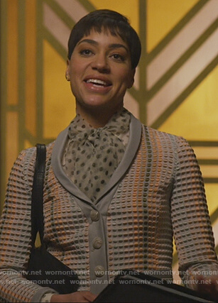 Lucca's textured blazer on The Good Fight