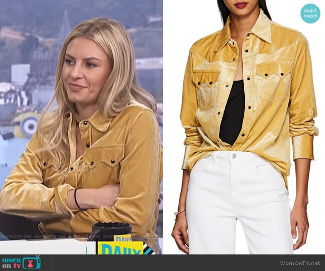 Carlota Western Blouse by The Gigi worn by Morgan Stewart  on E! News