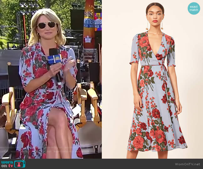 Mona Dress by Reformation worn by Amy Robach  on Good Morning America