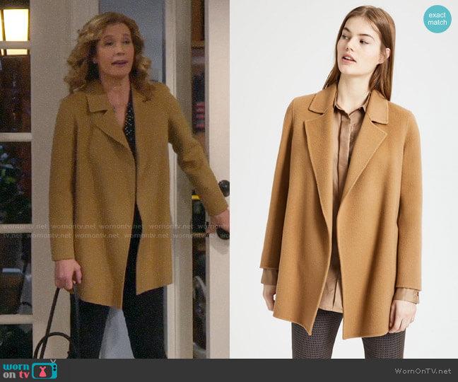 Theory Clairene Coat worn by Vanessa Baxter (Nancy Travis) on Last Man Standing