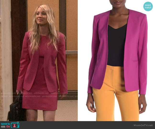 Theory Isita Blazer worn by Penny Hofstadter (Kaley Cuoco) on The Big Bang Theory