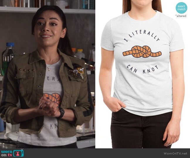 Can Knot Tee by Haasbroek at Threadless worn by Ella Lopez (Aimee Garcia) on Lucifer
