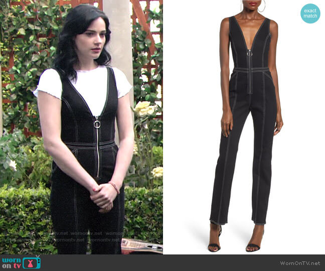 Tigermist Ava Jumpsuit worn by Tessa Porter (Cait Fairbanks) on The Young & the Restless