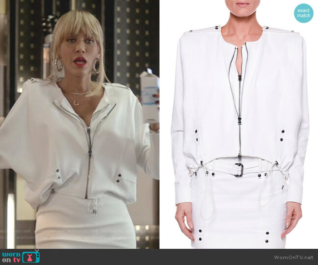 Double-Zip Cotton-Twill Jacket by Tom Ford worn by Giselle (Nicole Ari Parker) on Empire