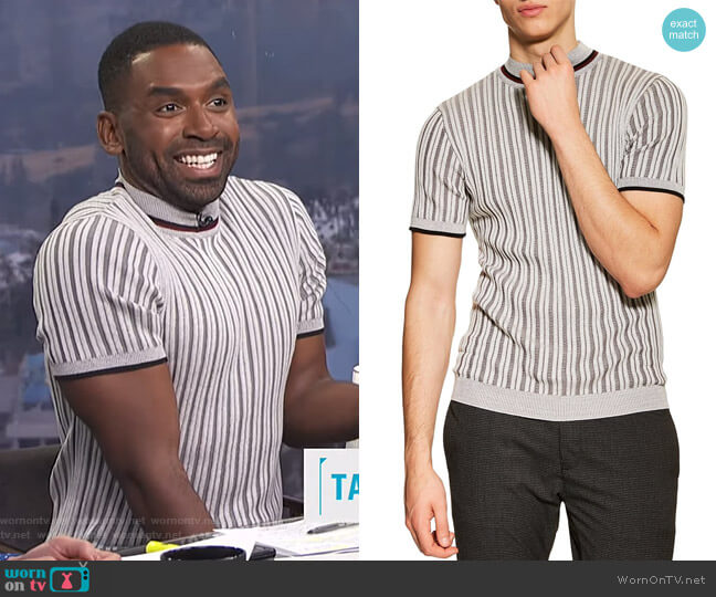 Short Sleeve Sweater by Topman worn by Justin Sylvester  on E! News