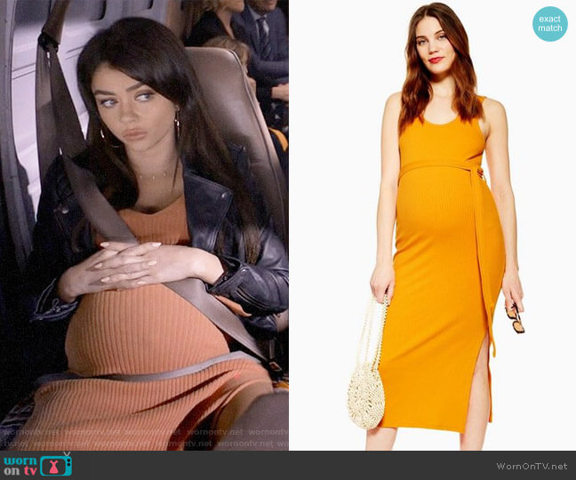 Topshop MATERNITY Belted Midi Dress worn by Haley Dunphy (Sarah Hyland) on Modern Family