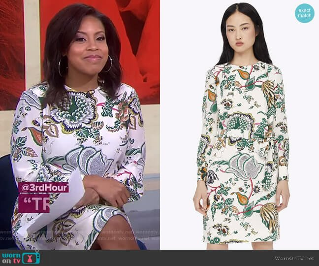 Happy Times Shift Dress by Tory Burch worn by Sheinelle Jones  on Today