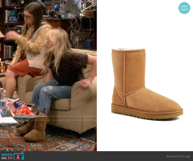 Ugg Classic II Short Boot worn by Penny Hofstadter (Kaley Cuoco) on The Big Bang Theory