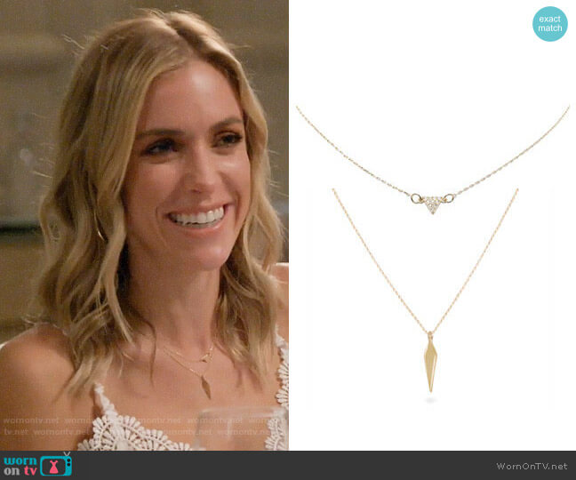 Uncommon James Gulch and To the Point Necklace worn by Kristin Cavallari  on Very Cavallari