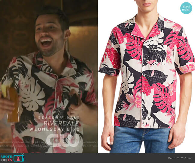 Tropical Cotton Shirt by Valentino worn by Sam Flores (Rafael de la Fuente) on Dynasty