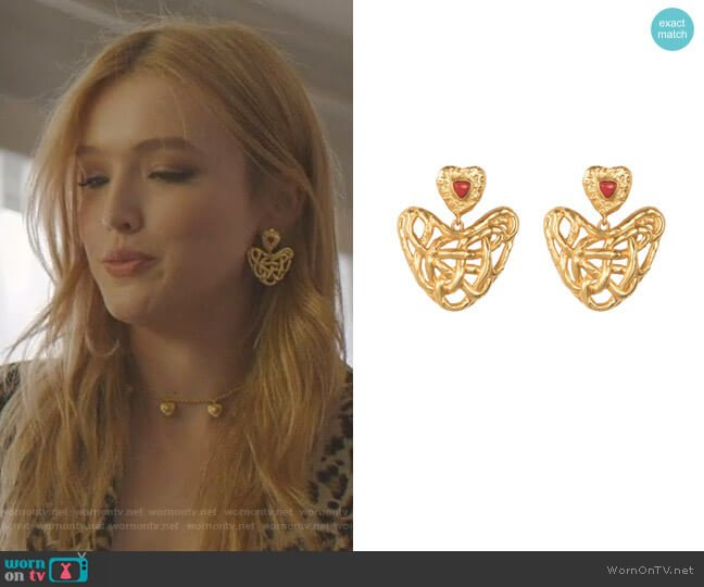 Captive Love Earrings by Valere worn by Kirby Anders (Maddison Brown) on Dynasty