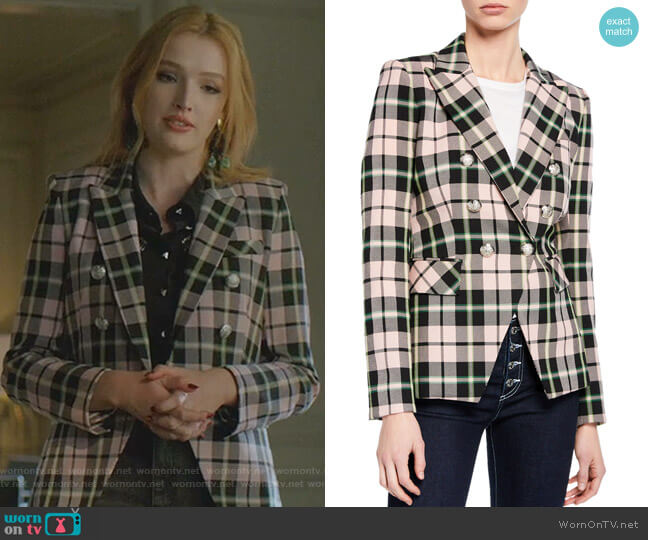 Miller Dickey Jacket by Veronica Beard worn by Kirby Anders (Maddison Brown) on Dynasty