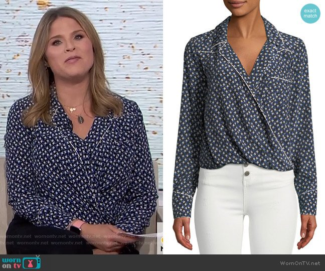 Worth Top by Veronica Beard worn by Jenna Bush Hager  on Today