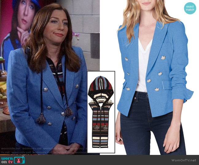Veronica Beard Diego Jacket and Lupe Dickey worn by Rosa Diaz (Stephanie Beatriz) on Brooklyn Nine-Nine