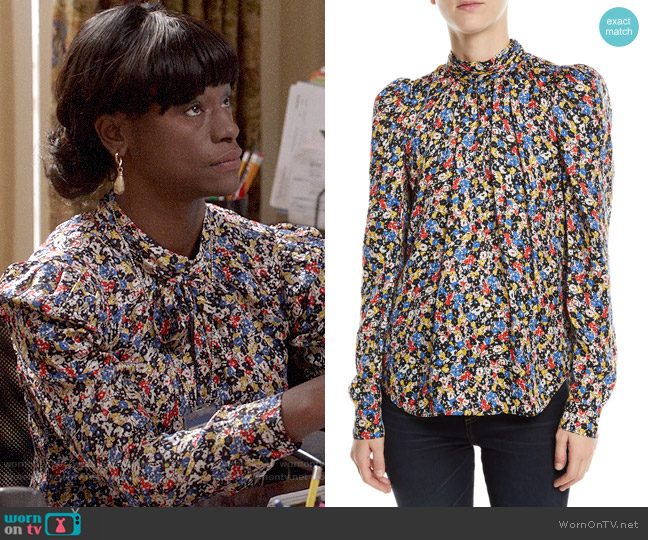 Veronica Beard Mena Blouse worn by Sue Wilson (Sufe Bradshaw) on Veep