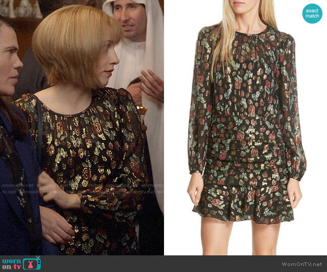 Veronica Beard Robin Dress worn by Catherine Meyer (Sarah Sutherland) on Veep