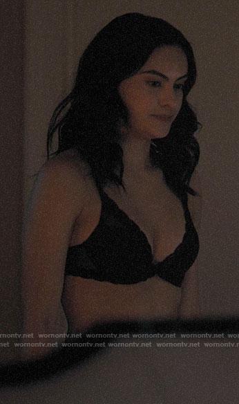 Veronica's black lace trim bra on Riverdale
