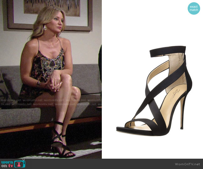 Vince Camuto Devin Sandals worn by Sharon Collins (Sharon Case) on The Young & the Restless