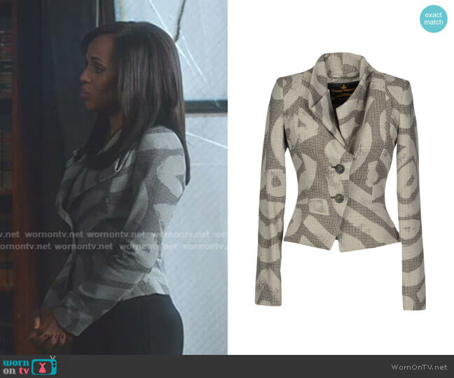 Porta Jacket by Vivienne Westwood Anglomania worn by Olivia Pope (Kerry Washington) on Scandal
