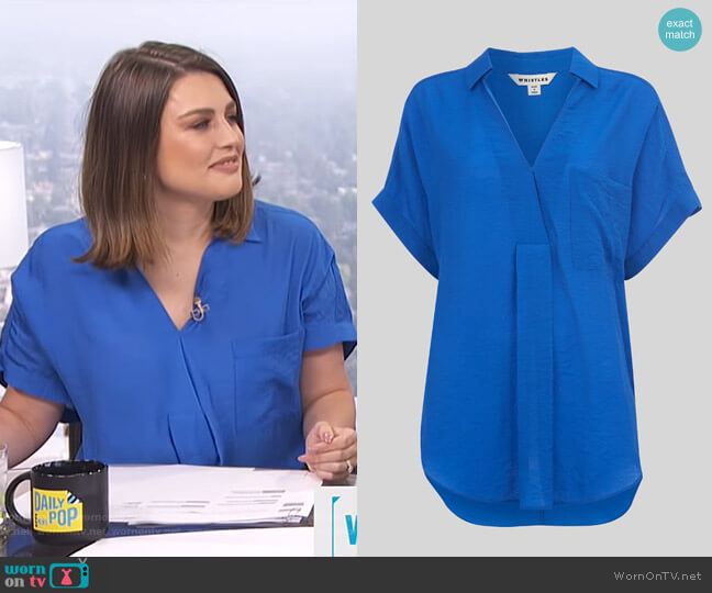 Lea Tunic Top by Whistles worn by Carissa Loethen Culiner  on E! News