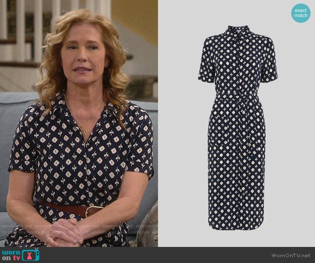 Whistles Ikat Montana Dress worn by Vanessa Baxter (Nancy Travis) on Last Man Standing