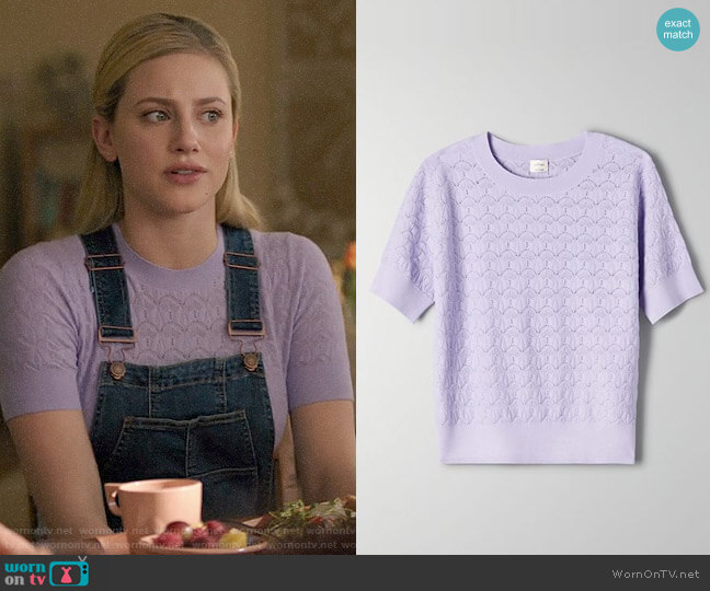 Aritzia Wilfred Ozma Sweater worn by Betty Cooper (Lili Reinhart) on Riverdale