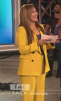 Carrie's yellow blazer and pants on The Talk