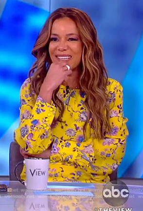 Sunny's yellow floral dress on The View