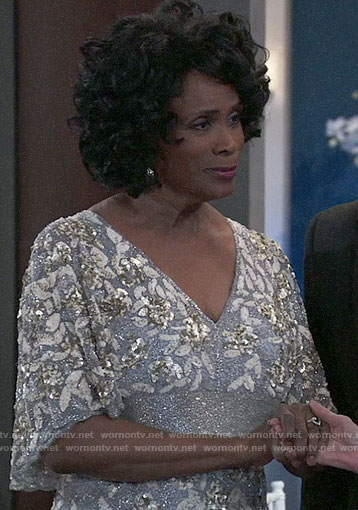 Yvonne's gown at the Nurse's Ball on General Hospital