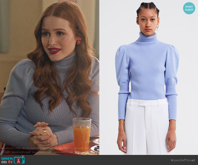 7a144ffd Zara Balloon Sleeve Knit Sweater worn by Cheryl Blossom (Madelaine Petsch)  on Riverdale