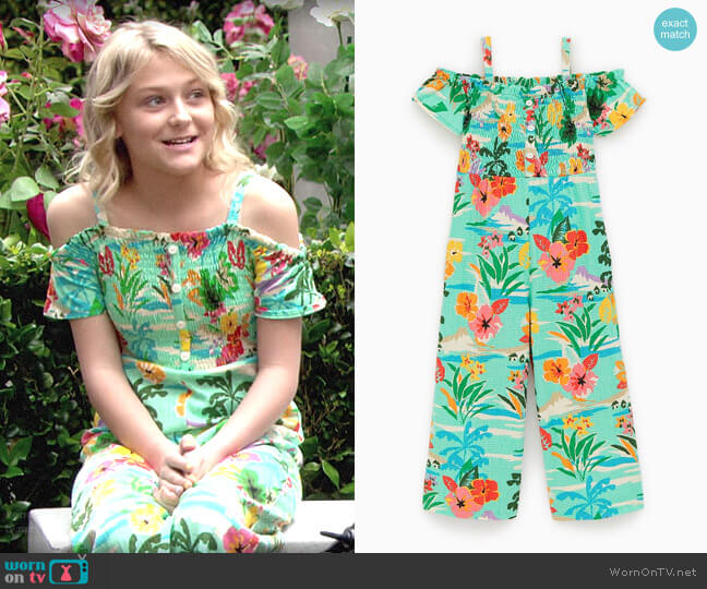 Zara Floral Jumpsuit worn by Faith Newman (Alyvia Alyn Lind) on The Young & the Restless