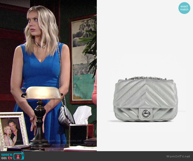 Zara Quilted Crossbody worn by Abby Newman (Melissa Ordway) on The Young & the Restless