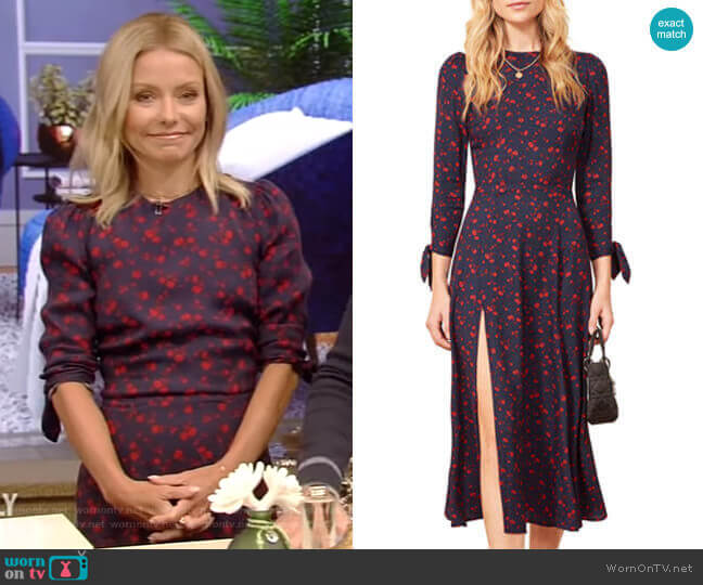 Zelda Dress by Reformation worn by Kelly Ripa  on Live with Kelly & Ryan
