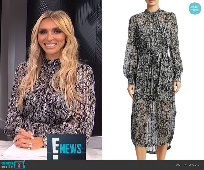 Ninety-Six Paisley Silk Dress by Zimmermann worn by Giuliana Rancic (Giuliana Rancic) on E! News
