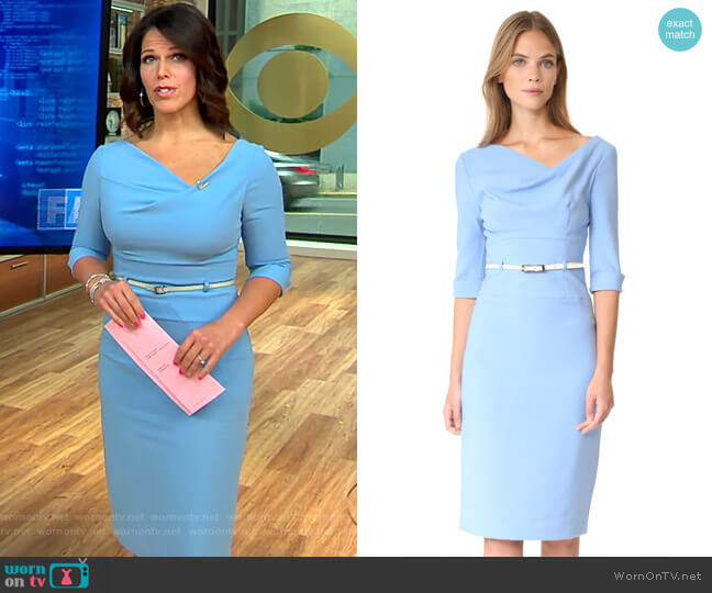 Black Halo 3/4 Sleeve Jackie O Dress worn by Dana Jacobson  on CBS This Morning