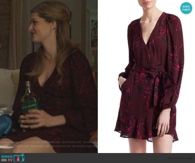 Embry Wrap Mini Dress by A.L.C. worn by Sutton (Meghann Fahy) on The Bold Type