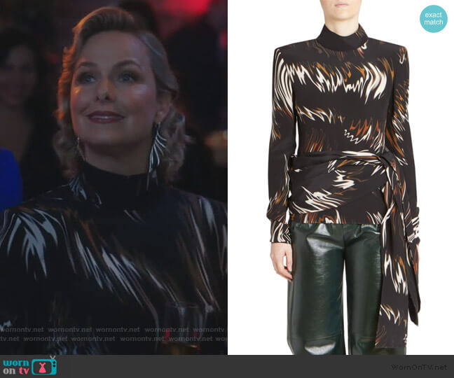 Abstract Print Blouse by Givenchy worn by Jacqueline (Melora Hardin) on The Bold Type