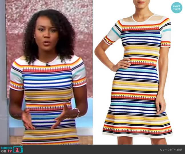 Adena Dress by Shoshanna worn by Janai Norman  on Good Morning America