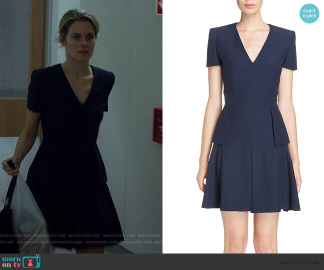 Leaf Crepe Fit & Flare Dress by Alexander McQueen worn by Trish Walker (Rachael Taylor) on Jessica Jones
