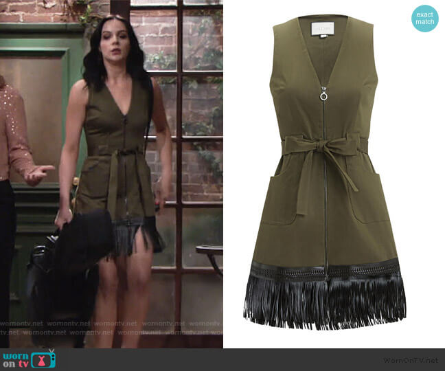 Lottie Fringe Hem Dress by Alexis worn by Tessa Porter (Cait Fairbanks) on The Young & the Restless