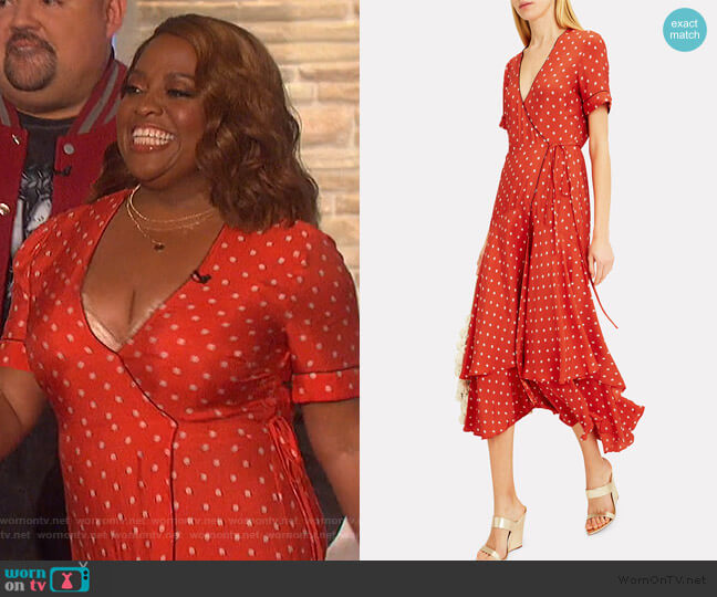 Sundara Wrap Dress by Alexis worn by Sherri Shepherd on The Talk