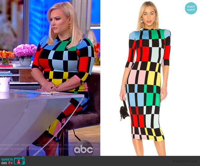 Delora Mock Neck Dress by Alice + Olivia worn by Meghan McCain  on The View