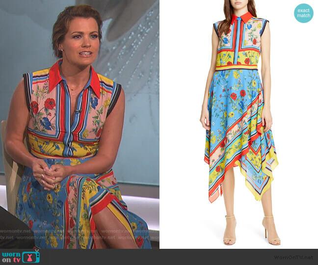 Farrah Handkerchief Dress by Alice + Olivia