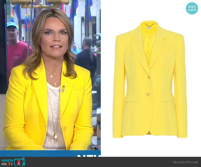 Fenice Blazer by Altuzarra worn by Savannah Guthrie  on Today