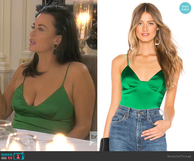 Helaine Cami by Amanda Uprichard worn by Kyle Richards  on The Real Housewives of Beverly Hills